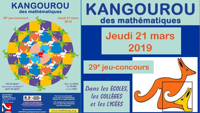 """Résultat de recherche d'images pour """"concours kangourou 2019"""""""